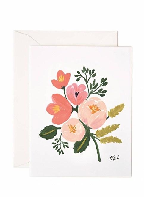 Rifle Paper Co. Peony Pink Floral Kart Renkli